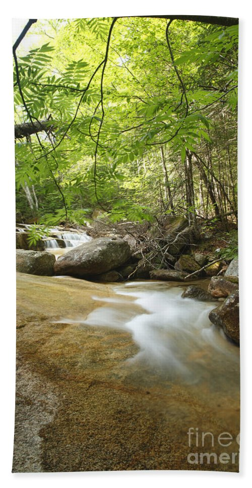 White Mountain National Forest Bath Sheet featuring the photograph Crystal Brook - Lincoln New Hampshire Usa by Erin Paul Donovan