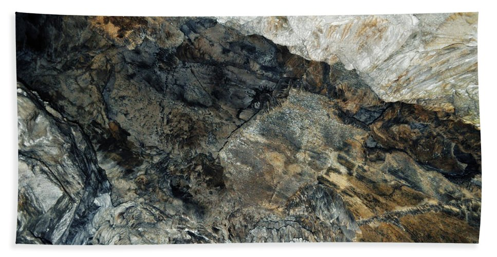 Sequoia National Park Hand Towel featuring the photograph Crystal Cave Marble Ceiling by Kyle Hanson