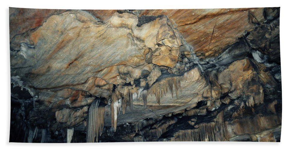 Sequoia National Park Hand Towel featuring the photograph Crystal Cave Marble by Kyle Hanson