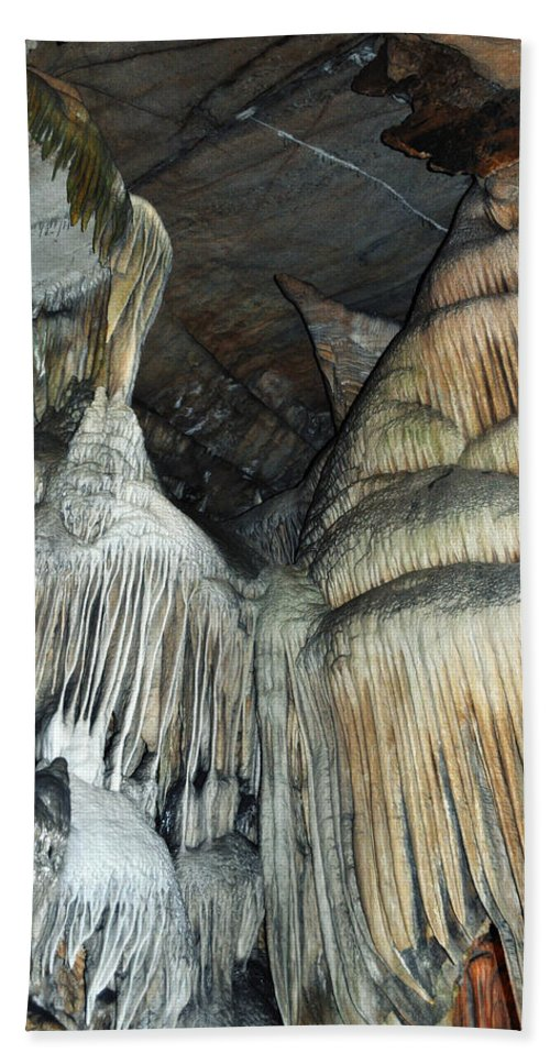 Sequoia National Park Hand Towel featuring the photograph Crystal Cave Portrait Sequoia by Kyle Hanson