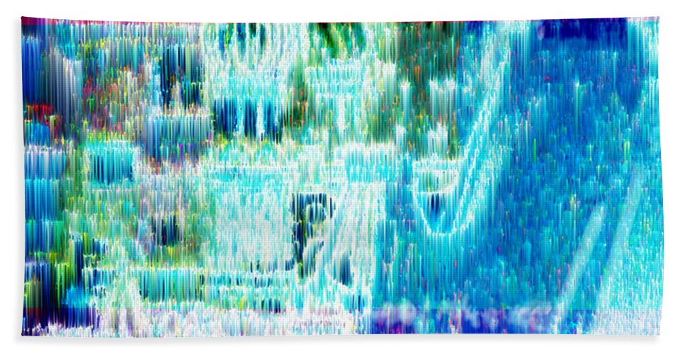 Northern Lights Bath Sheet featuring the digital art Crystal City by Seth Weaver