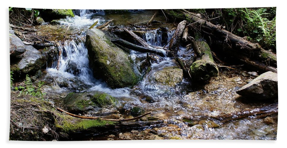 Nature Hand Towel featuring the photograph Crystal Clear Creek by Ben Upham III
