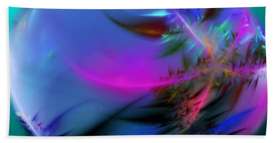 Digital Painting Hand Towel featuring the digital art Crystal Egg by David Lane