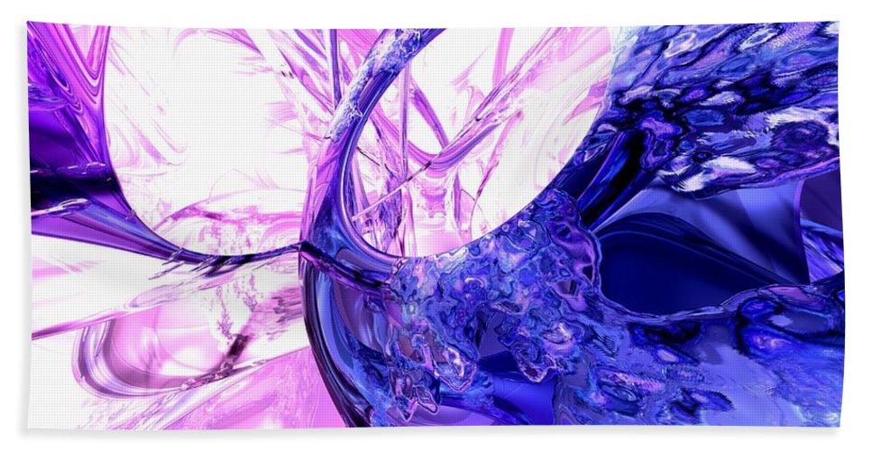 3d Bath Sheet featuring the digital art Crystallized Abstract by Alexander Butler