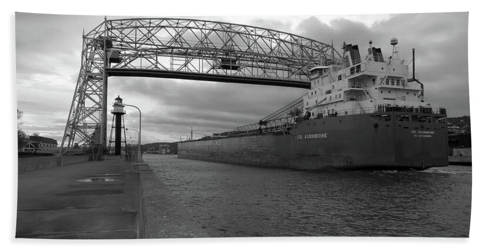 Ships Hand Towel featuring the photograph Csl Assiniboine by Alison Gimpel