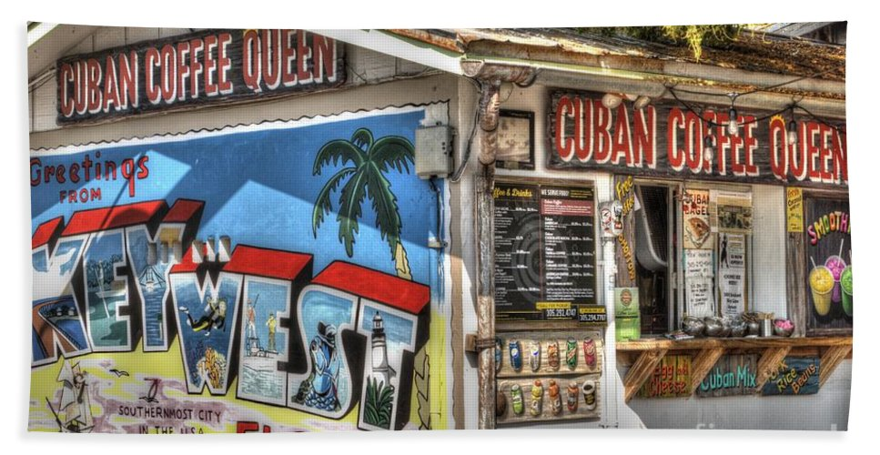 Architecture Bath Towel featuring the photograph Cuban Coffee Queen by Juli Scalzi