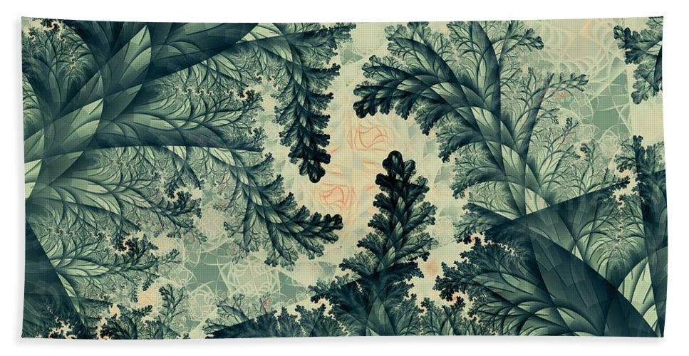 Plant Bath Sheet featuring the digital art Cubano Cubismo by Casey Kotas
