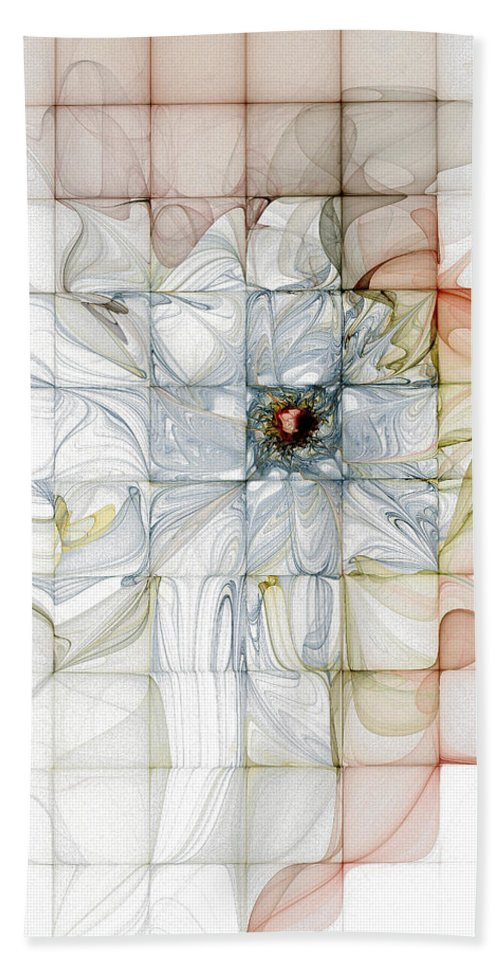 Digital Art Bath Sheet featuring the digital art Cubed Pastels by Amanda Moore