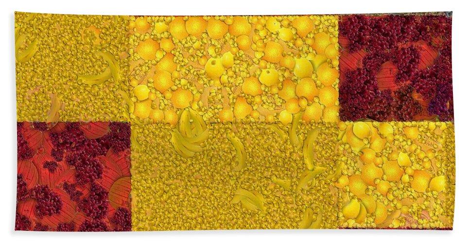 Digital Art Bath Sheet featuring the digital art Cubism by Dragica Micki Fortuna