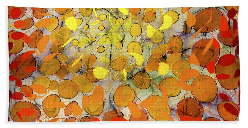 Abstract Bath Sheet featuring the painting Culmination by Lynne Taetzsch
