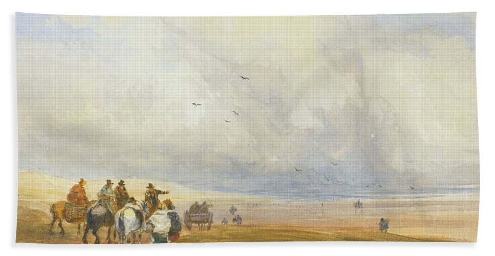 David Cox Bath Sheet featuring the painting Cumbria by MotionAge Designs