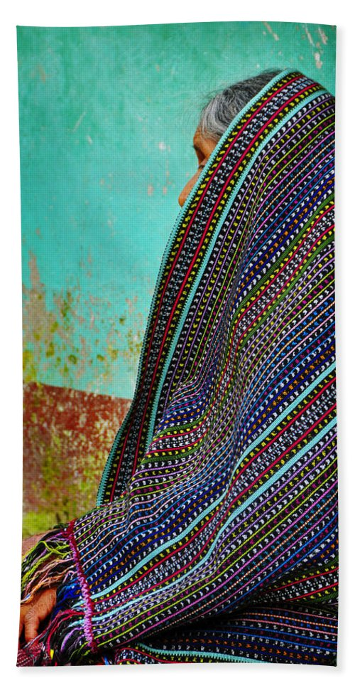 Skip Hunt Hand Towel featuring the photograph Curandera by Skip Hunt