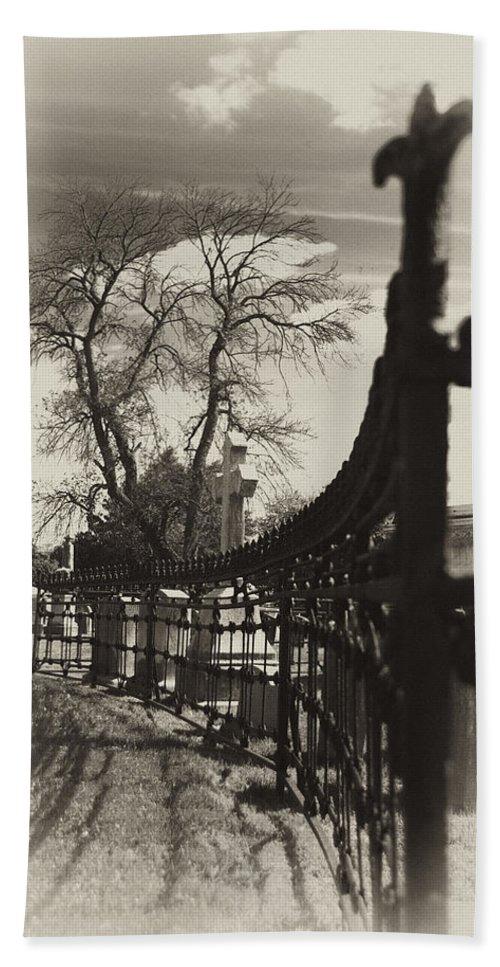 Gate Bath Sheet featuring the photograph Curved Gate by Scott Wyatt