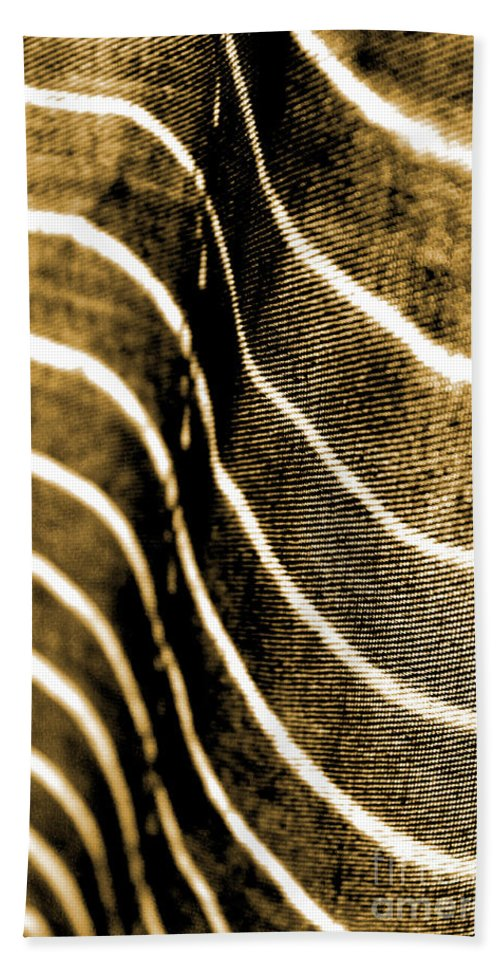 Abstract Bath Sheet featuring the photograph Curves And Folds by Todd Blanchard