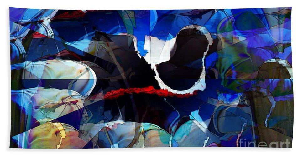 Cut Bath Sheet featuring the digital art Cut by Ron Bissett