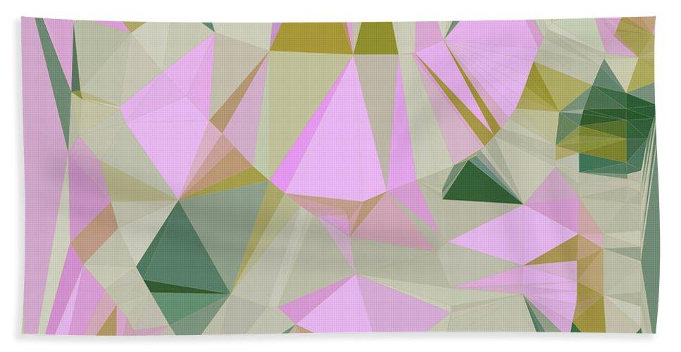 Polygonal Hand Towel featuring the digital art Cute Polygonal by Studio Brinomi