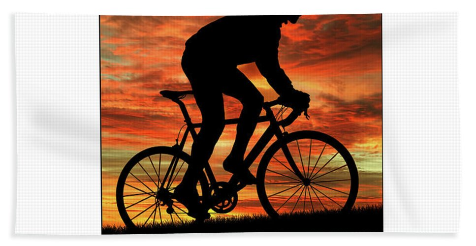 Cyclist Bath Sheet featuring the photograph Cycling Pedal For Life by Karl Knox Images