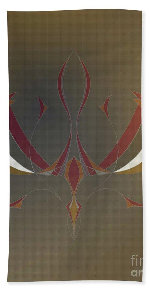 Leonardo Bath Sheet featuring the digital art Da Vinci Spider by Alycia Christine