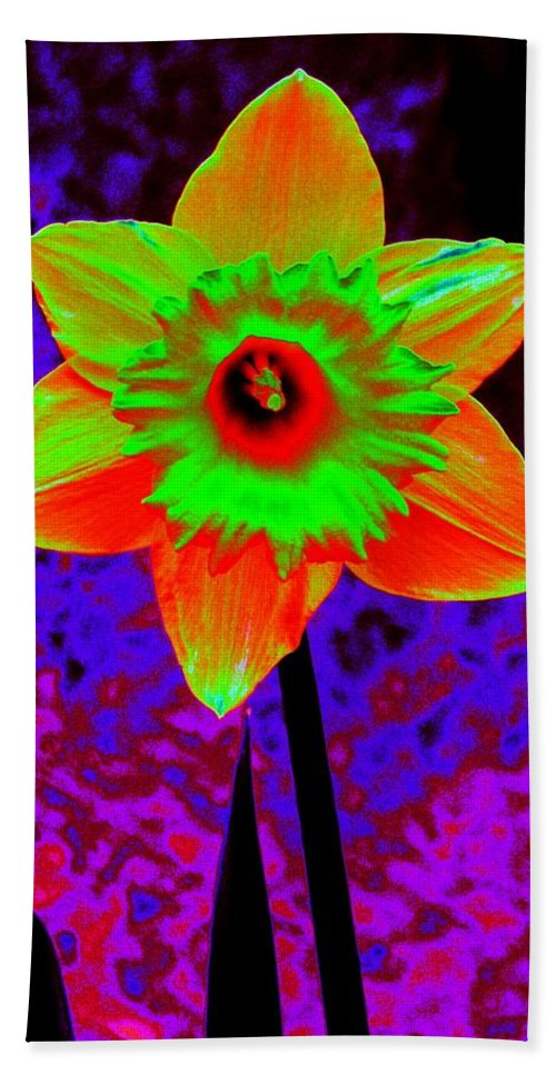 Daffodil Hand Towel featuring the photograph Daffodil 2 by Tim Allen
