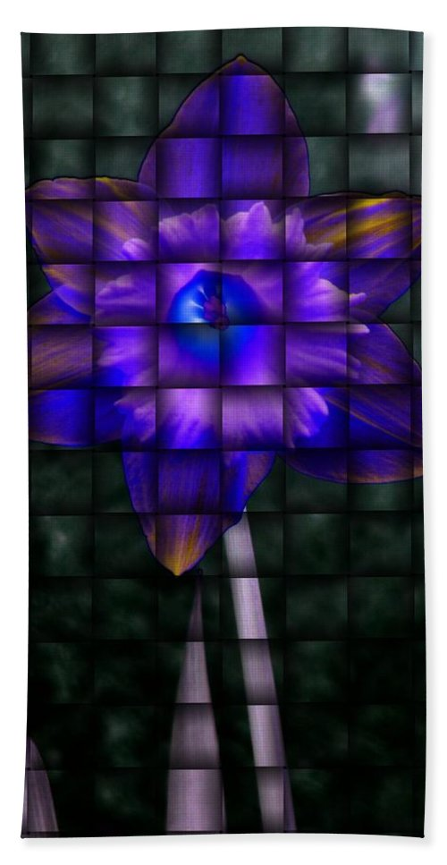 Daffodil Hand Towel featuring the photograph Daffodil Weave 2 by Tim Allen