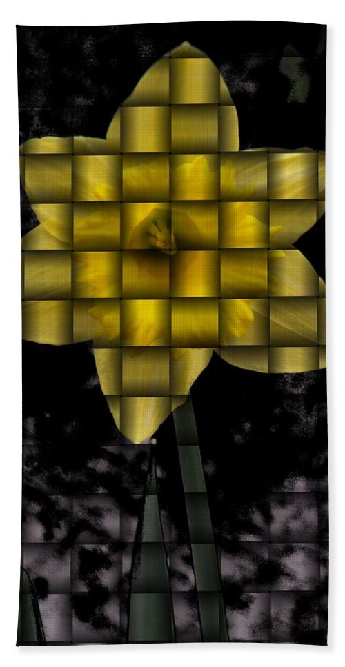 Daffodil Bath Sheet featuring the photograph Daffodil Weave by Tim Allen