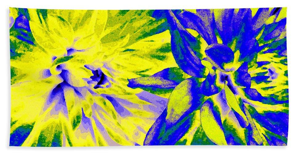 Dahlia Decor Hand Towel featuring the digital art Dahlia Decor by Will Borden
