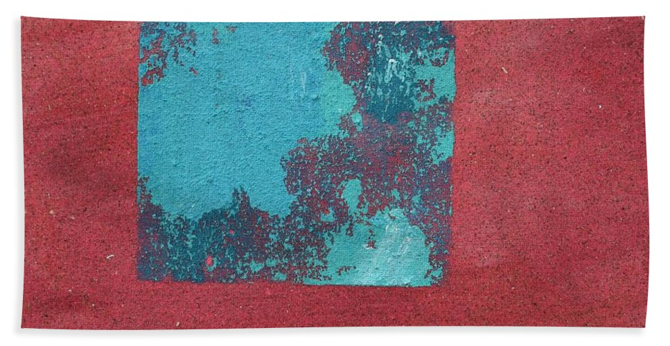 Sandpainting Hand Towel featuring the painting Daily Abstraction 218022001 by Eduard Meinema