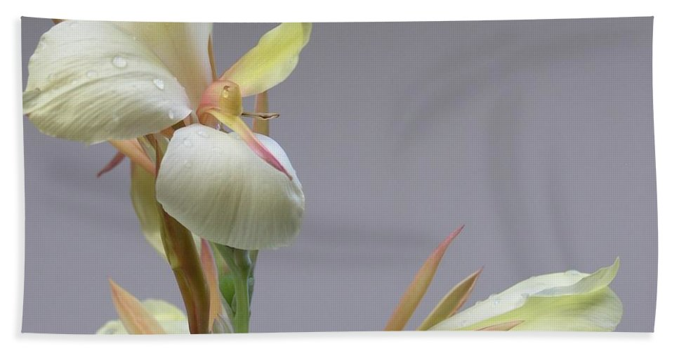 Yellow Bath Towel featuring the photograph Dainty Orchid by Mary Deal