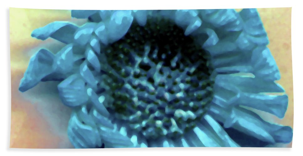 Hand Towel featuring the photograph Daisy Blue by Heather Kirk