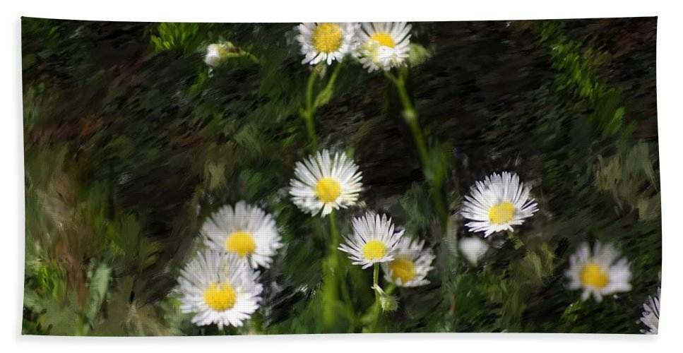 Digital Photograph Hand Towel featuring the photograph Daisy Day Fantasy by David Lane