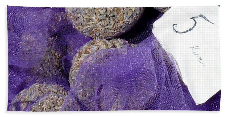 Lavender Hand Towel featuring the photograph Dalmatian Lavender by Carla Parris