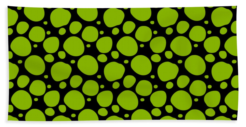 Pattern Hand Towel featuring the digital art Dalmatian Pattern With A Black Background 09-p0173 by Custom Home Fashions