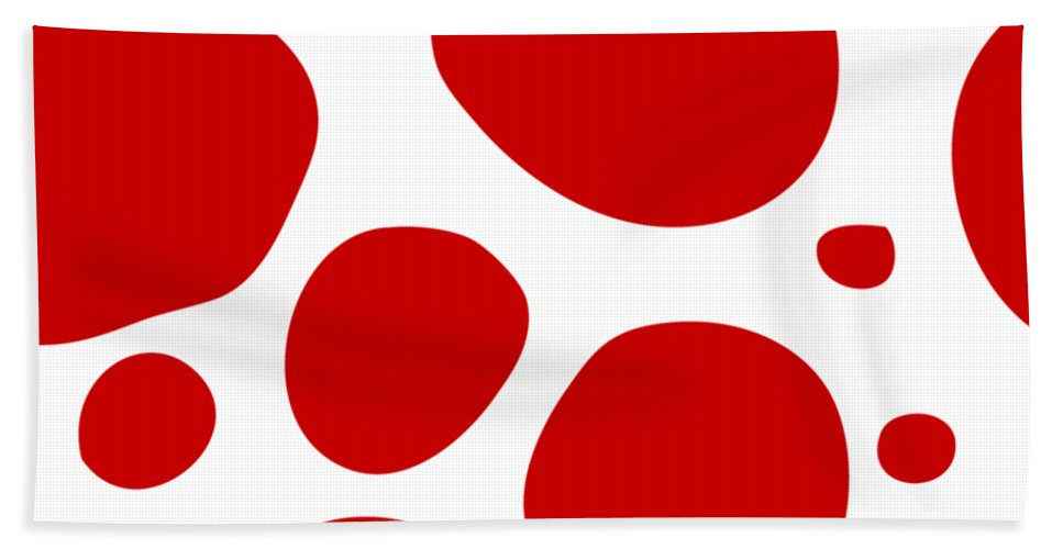 Pattern Hand Towel featuring the digital art Dalmatian Pattern With A White Background 02-p0173 by Custom Home Fashions