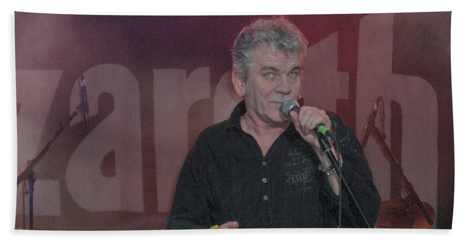 Dan Mcafferty Nazareth Band Music Classic Rock And Roll Singer Bath Sheet featuring the photograph Dan Mccafferty by Andrea Lawrence