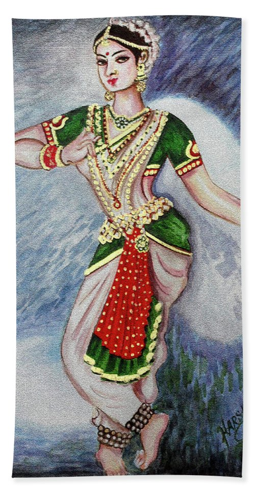 Dance Bath Sheet featuring the painting Dance 2 by Harsh Malik