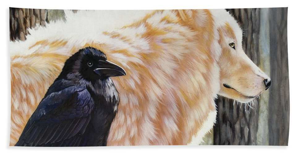 Acrylic Bath Towel featuring the painting Dance In The Light by Sandi Baker