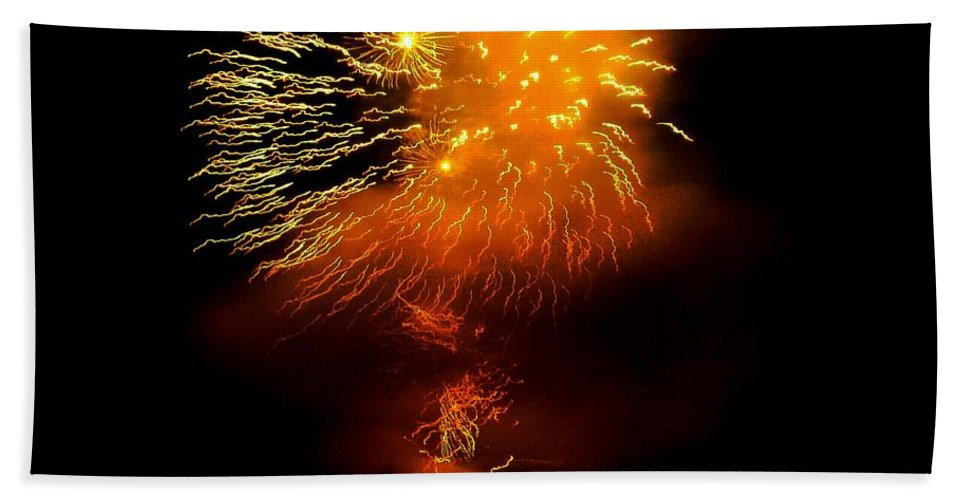 Fireworks Hand Towel featuring the photograph Dance Of The Fireflies by Kendall Eutemey