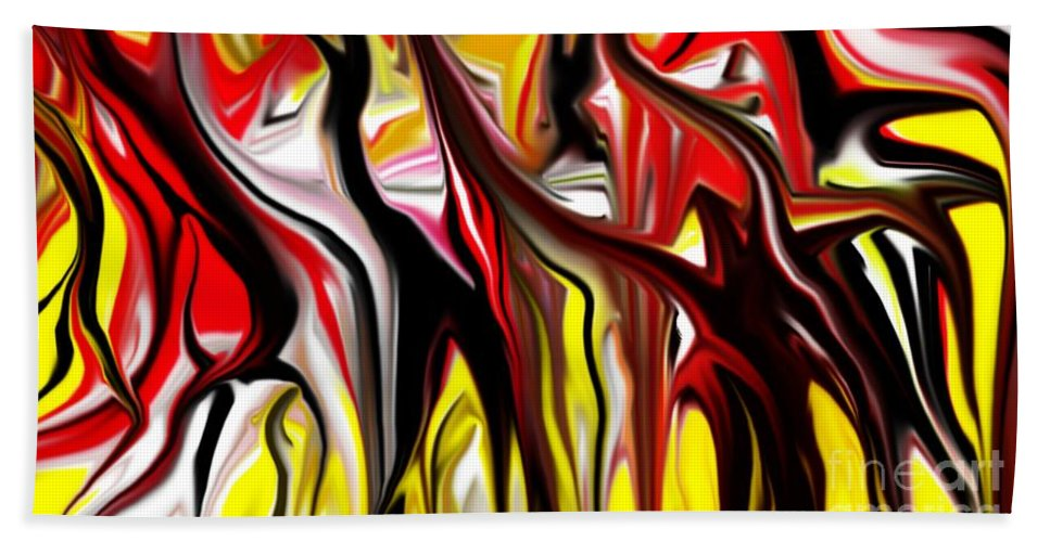 Abstract Hand Towel featuring the digital art Dance Of The Sugar Plum Faries by David Lane