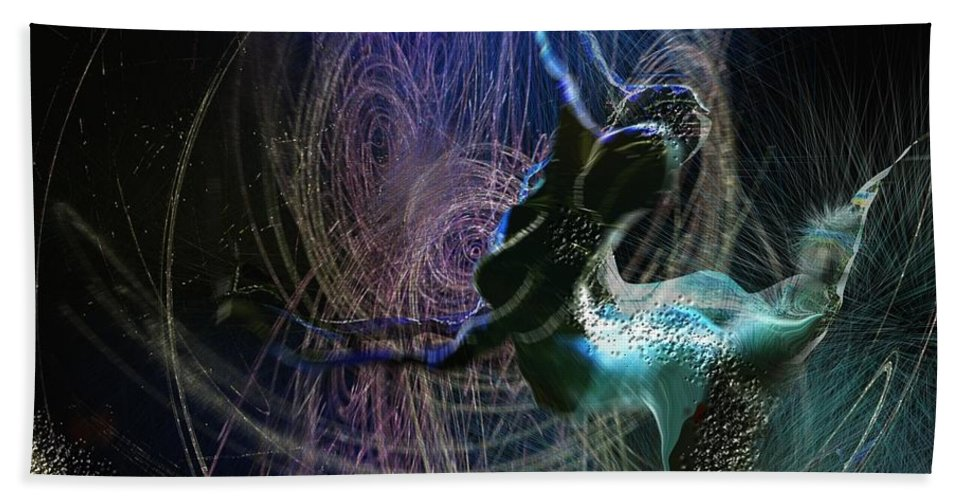 Nature Painting Bath Towel featuring the painting Dance Of The Universe by Miki De Goodaboom