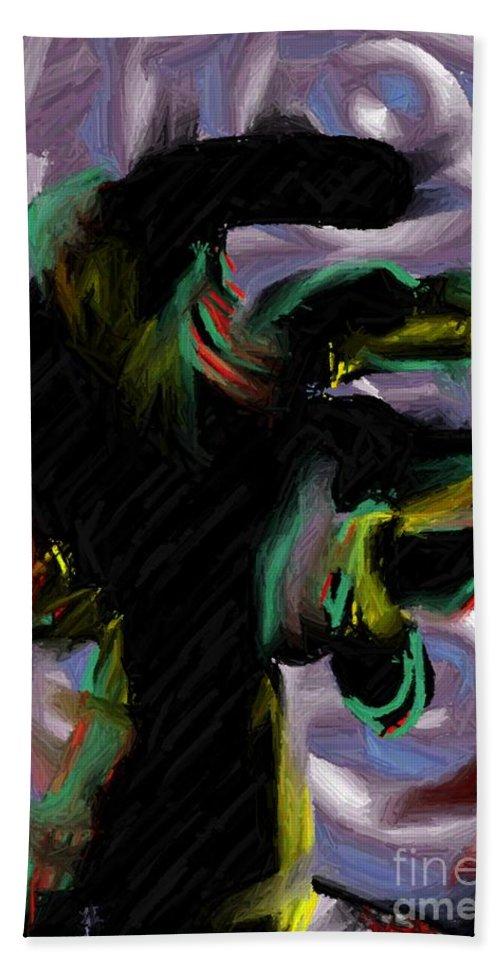 Digital Art Hand Towel featuring the digital art Dancer by Ron Bissett