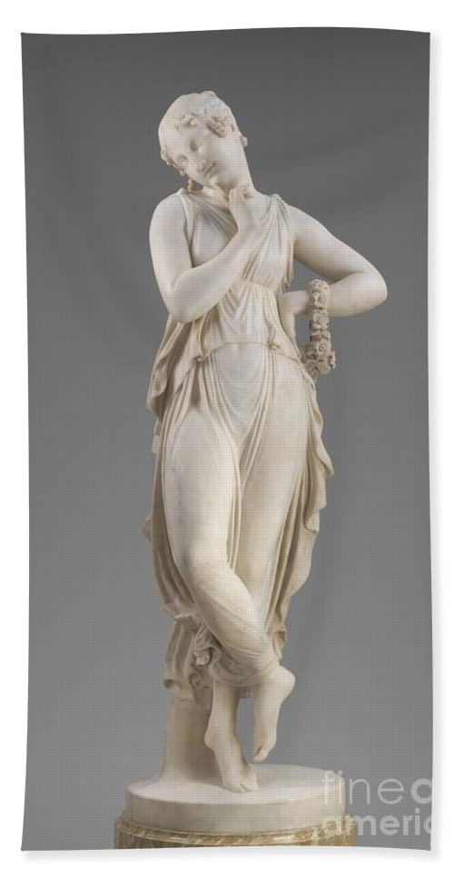 Hand Towel featuring the photograph Dancer With Finger On Chin by Antonio Canova