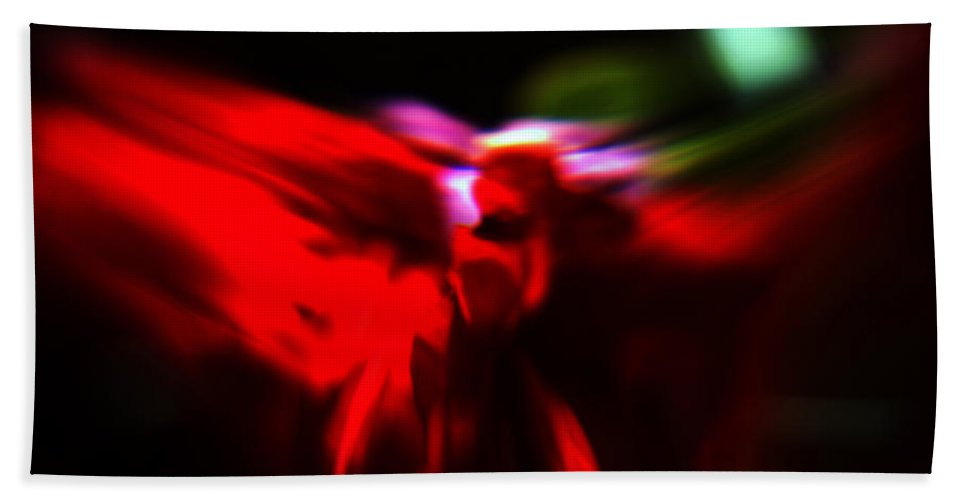 Abstract Bath Towel featuring the photograph Dancing Angels by Scott Wyatt