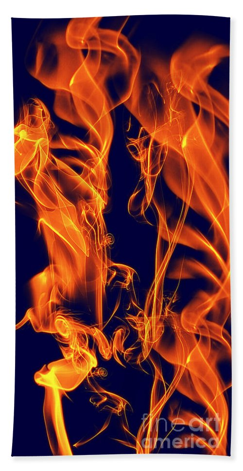 Clay Hand Towel featuring the digital art Dancing Fire I by Clayton Bruster
