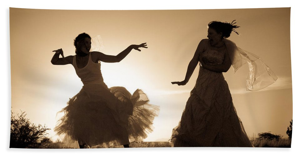 Dancing Girls Hand Towel featuring the photograph Dancing Girls by Scott Sawyer