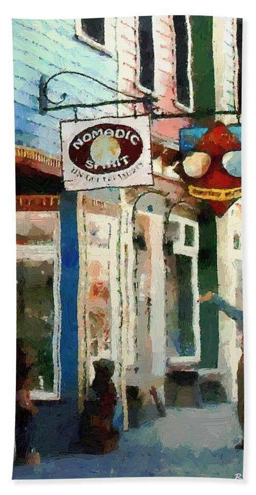 Colorado Bath Sheet featuring the painting Dancing in the Street by RC DeWinter