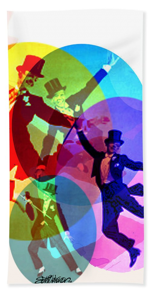 Dancing On Air Hand Towel featuring the digital art Dancing on Air by Seth Weaver