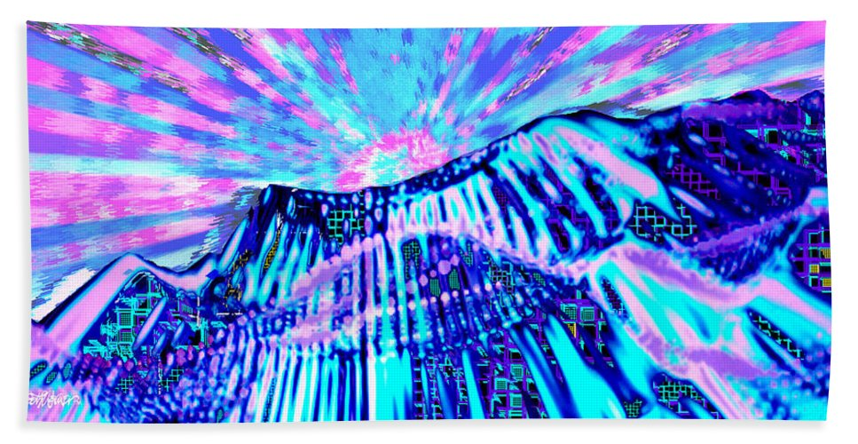 Aurora Borealis Bath Sheet featuring the digital art Dancing Sky by Seth Weaver