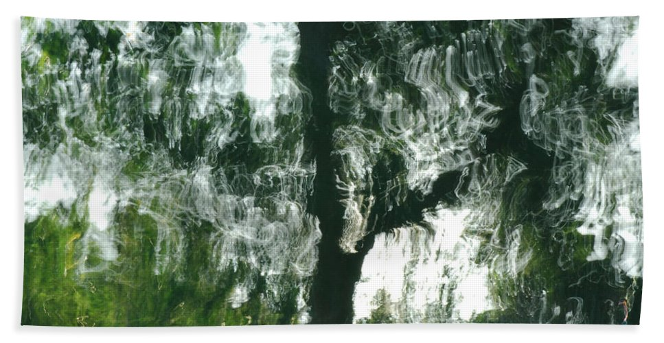 Water Hand Towel featuring the photograph Dancing Trees by Donna Blackhall