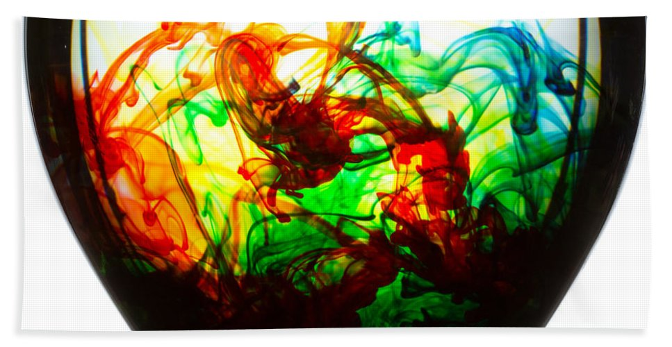 Color Hand Towel featuring the photograph Dancing Water Colors by Billy Bateman