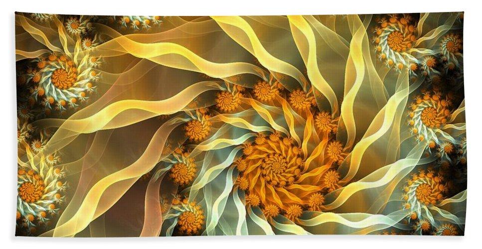 Fractal Bath Sheet featuring the digital art Dancing With Daisies by Amorina Ashton